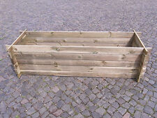 stabiler Holzkomposter Komposter Kompostbehälter imprägniert Hochbeet 195 x 65cm