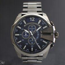 DIESEL DZ4329 Multifunktion Sport Chronograph Herrenuhr Edelstahl Grau Blau