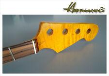 Jazz bass Canadian tiger Flamed Maple Neck high quality Neck pau Ferro Board #b