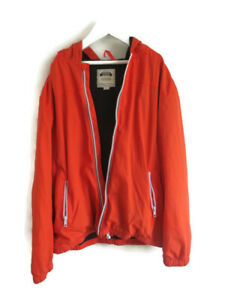 Gymboree Boy's Rain Sports Jacket Hoodie Anorak Orange Size 8