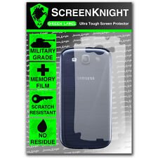 Screenknight Samsung Galaxy S3 Back SCREEN PROTECTOR invisible military shield