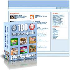 190 Flash Games (PHP Spiele-Portal) und Scripte
