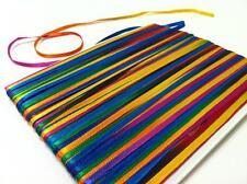 50 mt Glitterati BRIGHT SATIN Ribbon 3 mm width Multicoloured space dyed