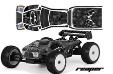AMR RACING RC GRAPHICS SKIN DECAL KIT MUGEN PROLINE BODY MBX6T GRIM REAPER BLACK