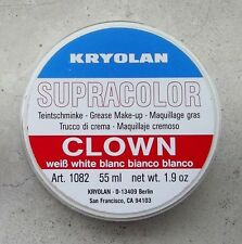 Kryolan Supracolor 55 ml Bianco Clown White cialda Trucco professionale teatrale