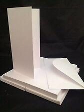 DL Lungo & Sottile biglietti in Bianco e buste bianco Confezione da 50