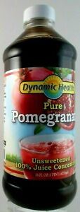Dynamic Health 100% Pure Pomegranate Juice Concentrate 16 oz. ~ Free Shipping