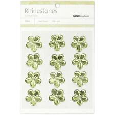 "**BRAND NEW** Kaiser Craft Mint Flower Rhinestones"" 12 per Pack SB742"