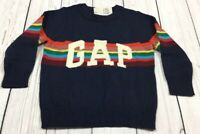 Baby Gap Boys 3 / 3T Sweater. Navy Blue & Bright Stripe Gap Logo Sweater. Nwt
