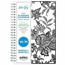 Blue Sky 2022 Weekly Monthly Planner 5 X 8 Flexible Cover Wirebound Analeis