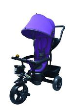 Purple Baby Kids buggy Smart Ride on Trike Tricycle 4 In 1 Bike 3 Wheels