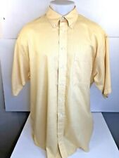 BURBERRY London - Yellow/Gold Mens XL Linen? (Appears to Be) Shirt