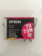 Genuine Epson 73/73N Magenta Ink Cartridge Printer Inkjet T0733N Brand New