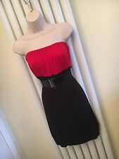 Red and Black Boobtube Strapless Dress  Size M / L