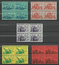 xxx NEDERLAND NVPH nrs. 722-726 (4x), blokken van 4. Zomer 1959. Cat.w. € 54,00