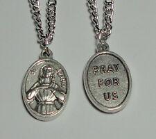 "St Agatha Holy Medal on 24"" Chain Patron of Nurses Breast Diseases Breastfeeding"