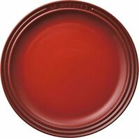 Le Creuset Plate Round Plate 23 cm Cherry Red Expedited Shipping From Japan NEW
