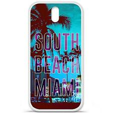 Coque housse étui tpu gel motif south beach miami HTC Desire 620