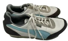 PUMA REPLI CAT Athletic Sneaker Shoes Gray Blue Suede Leather Women Size 8 1/2