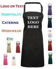 Personalised Custom printed apron Pocket Baking chef cooking Logo Text