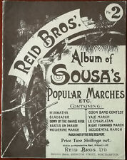 Reid Bros. Album of Sousa's Popular Marches. Gladiator, Yale March etc.