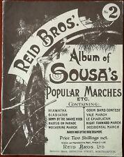 Reid Bros. Album of Sousa's Popular Marches. Gladiator, Yale March etc.