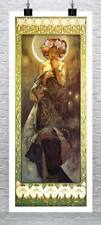 The Moon Alphonse Mucha Art Nouveau Rolled Canvas Giclee Print 17x38 in.