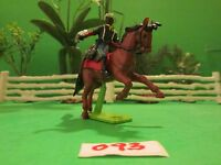 Stunning Rare Vintage 1981 Britain's Ltd. Mounted Union Buffalo Soldier! #093
