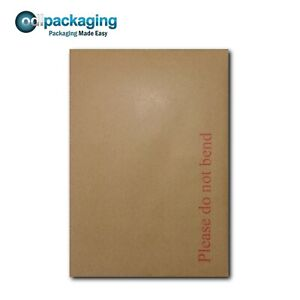 Hard Board Backed Envelopes 'Please Do Not Bend' Manilla Brown│Strong & Rigid