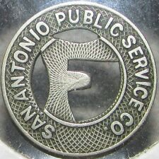 1920 San Antonio, TX Public Service Co. Transit Trolley Token - Texas
