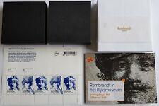 Nederland 2019 2 Gouden + 1 Zilveren Postzegel Rembrandt + Postzegelvel + Mapje