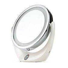 BROADCARE Makeup Mirror LED Lighted 1x/ 5x Double Sided Magnification USB Rechar