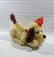 Vintage Dog On Wheels Battery Operated Toy Japan Christmas Hat
