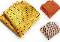 Pocket Square Handerchief Yellow Black Orange Patterned Hanky
