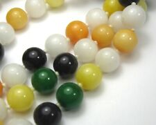 """30"""" HAND KNOTTED NECKLACE 68 BEAUTIFUL MIXED 9mm VINTAGE BEADS"""