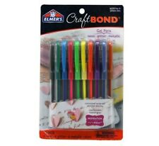Elmer's Craft Bond Multi-Color 18-Pack Gel Pens 6 glitter 6 metallic 6 neon-COOL