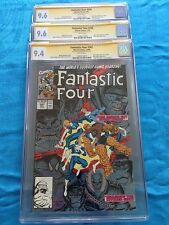 Fantastic Four #347 348 349 - Marvel - CGC SS 9.4 9.6 9.6 - Signed by Art Adams