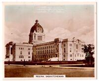 Provincial Legislature Building Regina Saskatchewan Canada 1930s Trade Ad  Card