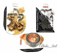 Stainless Steel Shape Cutters Pastry Cookies Biscuit Gingerbread Number Cutters