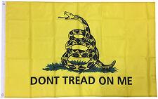 3x5 Ft Gadsden Dont Tread On Me Culpepper Rattlesnake Tea Party Flag - yb