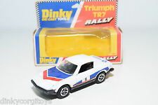 DINKY TOYS 207 TRIUMPH TR7 TR 7 RALLY WHITE NEAR MINT BOXED