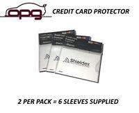 RFID Blocking Shieldex Credit Card Protector Sleeve Anti Theft Scan Safe X 6