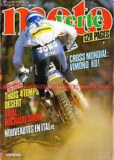 MOTO VERTE 138 HUSQVARNA 510 TE HONDA TLR RTL 250 XR 600 YAMAHA TT SAUNDERS 1985