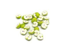1:12 scale Dolls House Miniature apple halves x8-Food--fruit-shop-accessory-