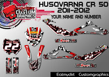 Para HUSQVARNA CR 50 2011-2012 kit completo personalizado de gráficos Pegatinas Calcomanías De Motocross