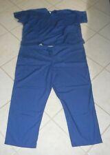 2pc Cherokee® Workwear™ Navy Blue Unisex Uniform Scrubs: Top; Pants - Size 4Xl