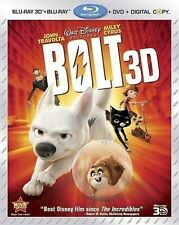 Bolt 3D Blu-ray, Blu-ray, and DVD, (No Slipcover) (No Digital Copy)