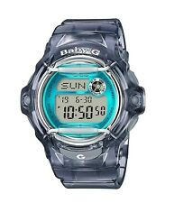 Casio Baby-G BG169R-8BCR Whale Series Women's Clear Gray Resin Digital Watch