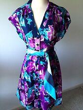 Nanette Lepore Floral Belted Dress Size 8 EUC