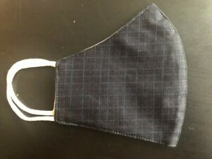 Black Check Pattern Adult Face mask Cover COTTON Washable Reusable